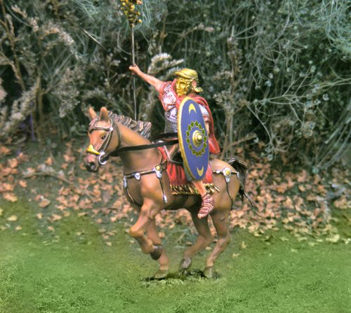 Roman Toy Soldiers Cavalry with Eagle Collectors Showcase Toy Soldiers Painted Metal Figure 54mm-56mm CS00736