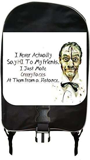I Never Actually Say Hi To My Friends/…Novelty Quote Backpack and Pencil Case Set