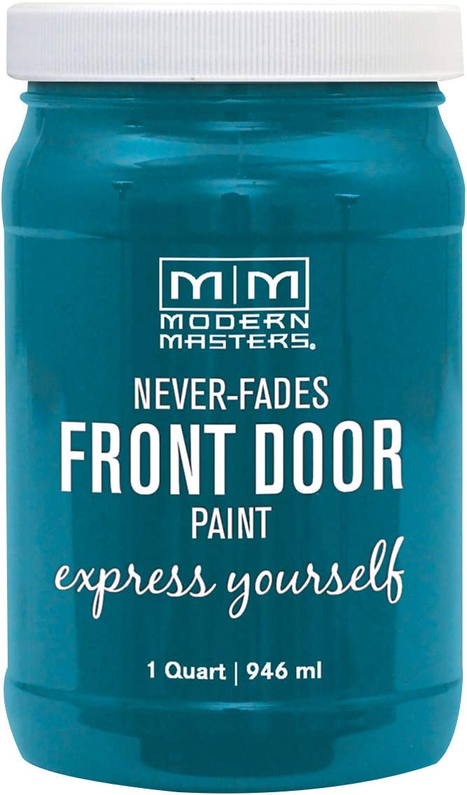 Modern Masters 296681 Front Door Paint, 1 Quart, Satin Tranquil