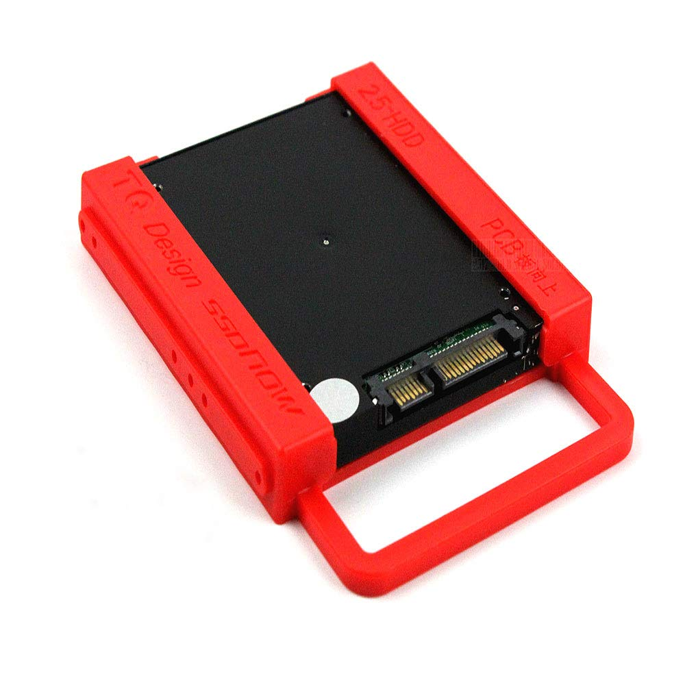 Kasstino 2.5'' to 3.5'' SSD to HDD with Screws Mounting Adapter Bracket Hard Drive Holder