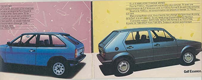 Amazon.com: 1980 ? VW Golf GTi Passat Bus Audi Porsche 911 928 944 Brochure French: Entertainment Collectibles