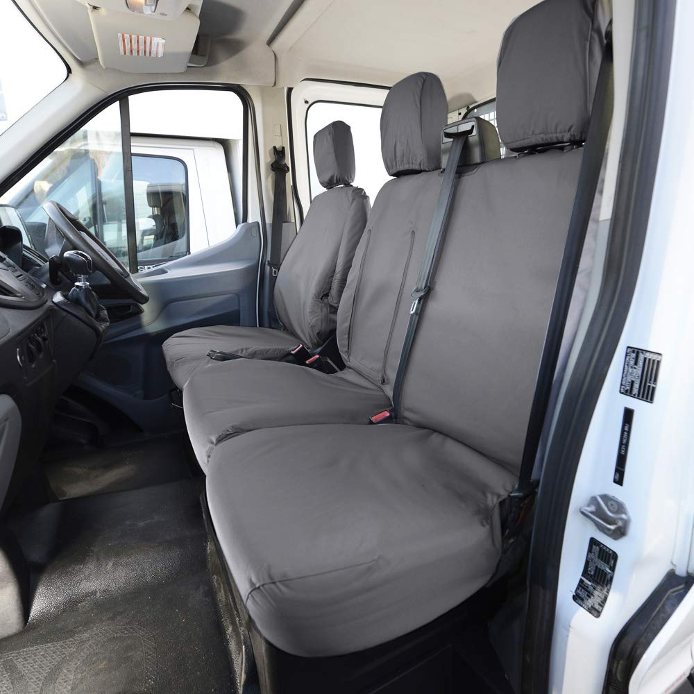 Ford Transit 2016 Van-Van Fundas De Asiento Negro Resistente Impermeable 2-1