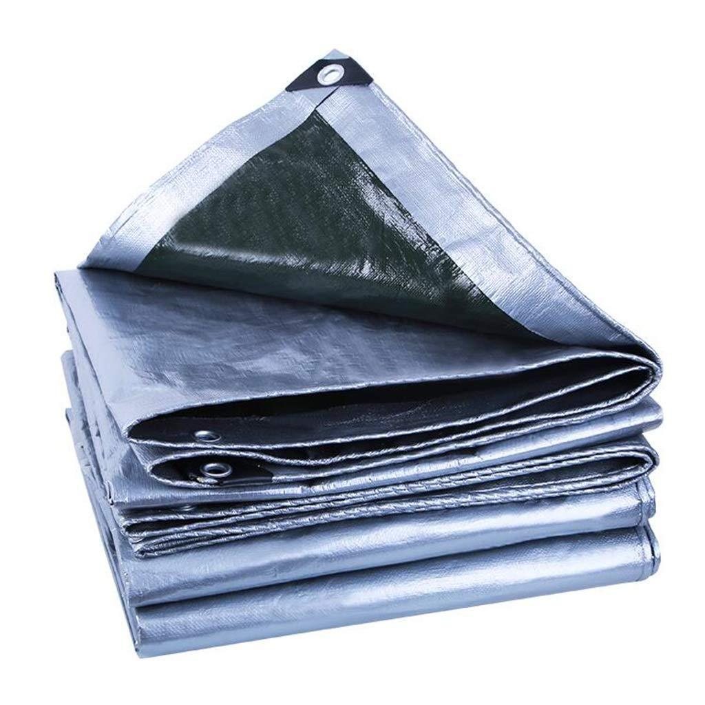 Plane PENGJUN Tarps Sonnenschutz Isolierung Sonnenschutz LKW Abdeckung Silber 190g   m2, 0,25mm Es ist weit verbreitet