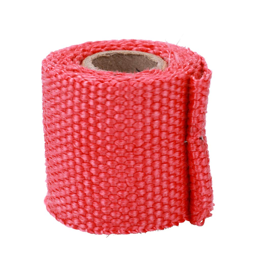 Festnight 1m Fiberglass Heat Exhaust Wrap Roll Motorcycle Car Heat Insulated Wrap Turbo Intake Manifold Heat Wrap Practical Heat Shield Tape