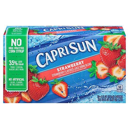 Capri Sun Strawberry Juice Drink (6 oz Pouches, 4 Boxes of 10)