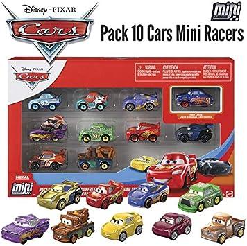 Disney Cars Pack de 10 Mini vehículos Pixar Cars (Mattel GKG08): Amazon.es: Juguetes y juegos