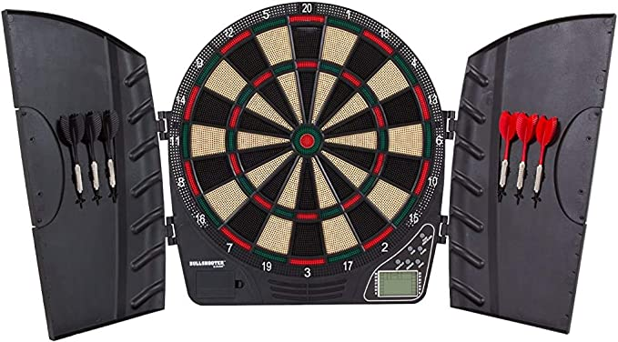 Bullshooter Reactor Electronic Dartboard and Cabinet - Best For Solo Players