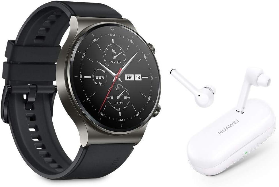 HUAWEI Watch GT 2 Pro + FreeBuds 3i - Smartwatch con Pantalla AMOLED de 1.39