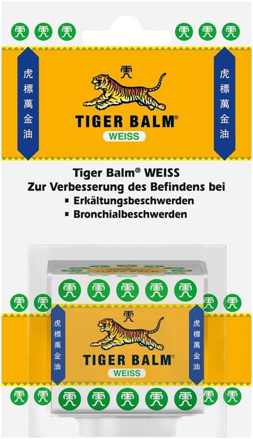 Weisses Tiger Balsam mit ätherischen Pfefferminzöl