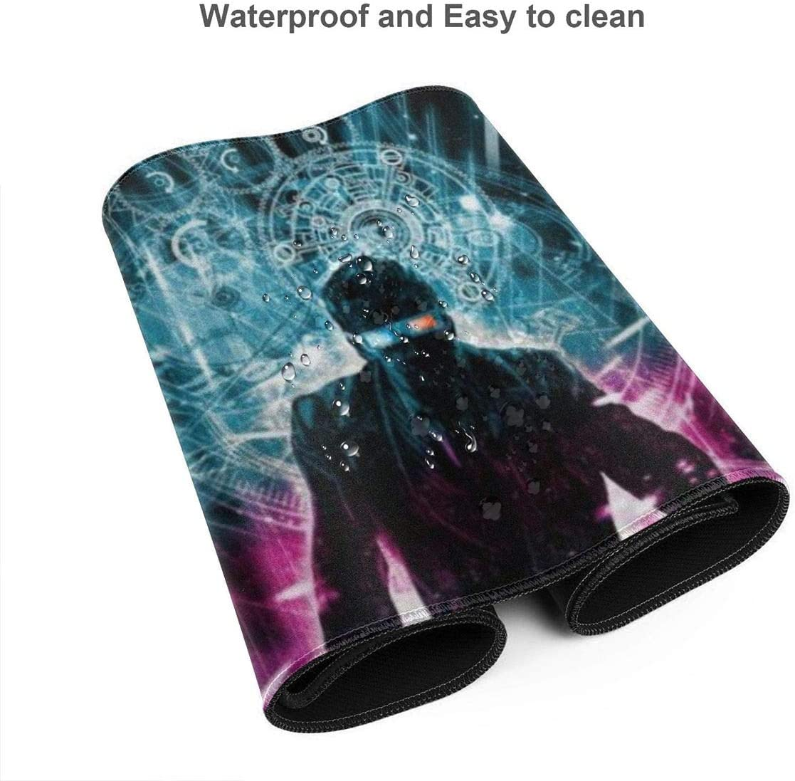 31.5 X 11.8x0.12 - XL Protective Keyboard Desk Mouse Mat for Computer//Laptop Extra Large Mouse Pad -10th Doctor Who Time Explosion Desk Mousepad 3mm Thick