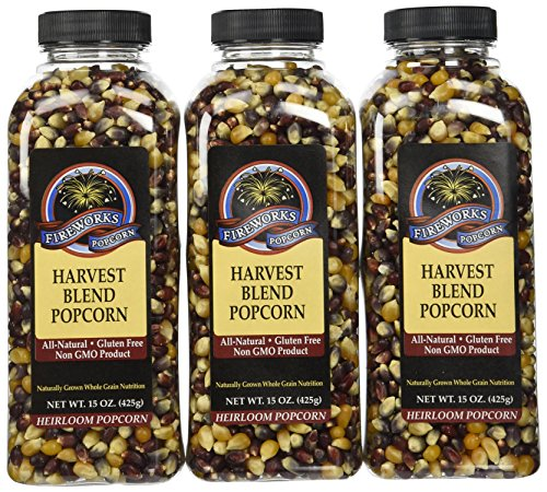 Fireworks Popcorn Harvest Blend Popcorn, 15-Ounce Bottles (Pack of 6)