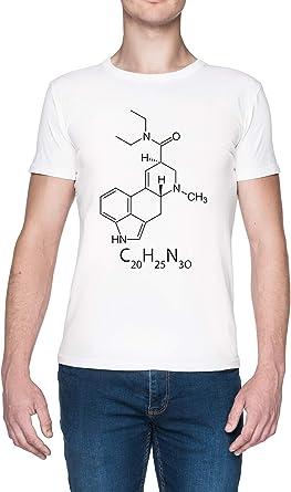 LSD Químico Estructura Blanca Mujer Camiseta White Mens T-Shirt tee: Amazon.es: Ropa y accesorios