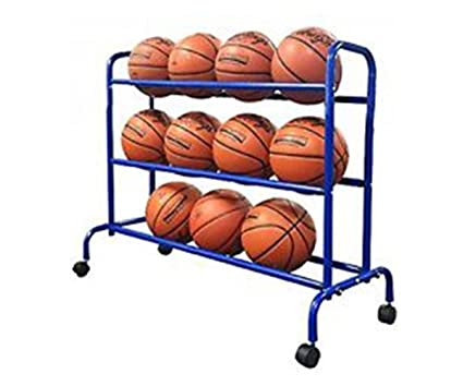 Pearson Portable Basketball Rack | Ball Storage Cart