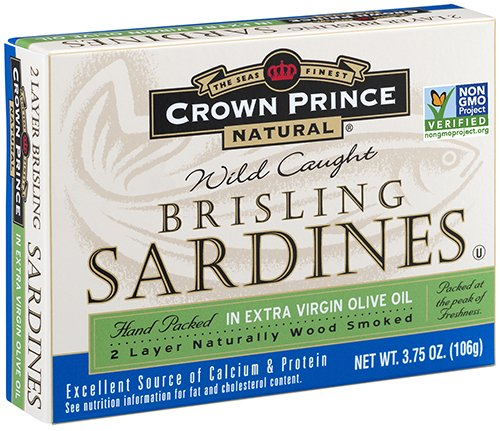 Case Oil Olive (Crown Prince Natural Two Layer Brisling Sardines in Extra Virgin Olive Oil, 3.75-Ounce Cans (Pack of 12))