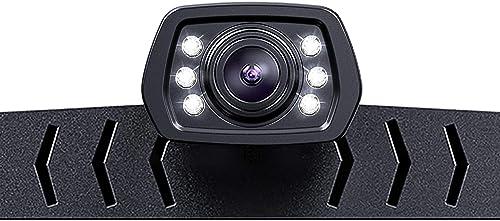 ZEROXCLUB Backup Camera for Car Pickup Trucks SUVs Vans RVs License Plate Rearview Camera Night Vision IP69 Waterproof Wide View-B01