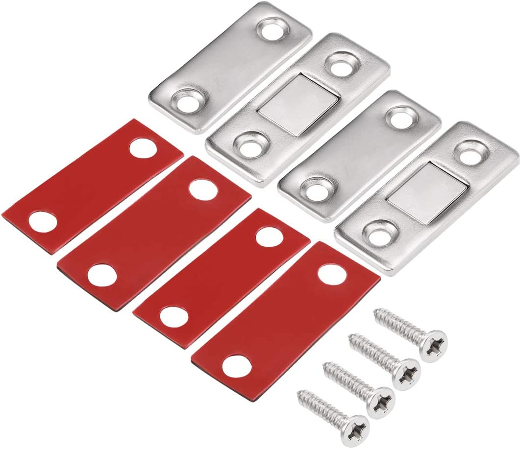 uxcell Thin Magnetic Door Catch High Magnetic Stainless Steel Drawer Magnet Latch 8pcs