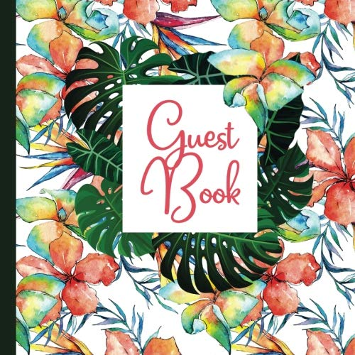 Guest Book: Hawaii Party Guest Book Includes Gift Tracker and Picture Memory Section to Create a Lasting Keepsake to Treasure Forever (Hawaii Party ... Invitations,Hawaii Party Supplies) (Volume 3) ()