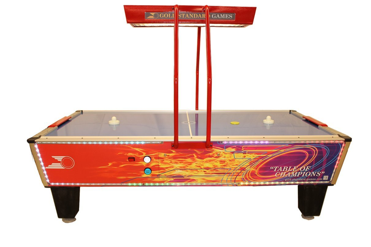 Gold Standard Games Gold Flare Elite Home Air Hockey Table