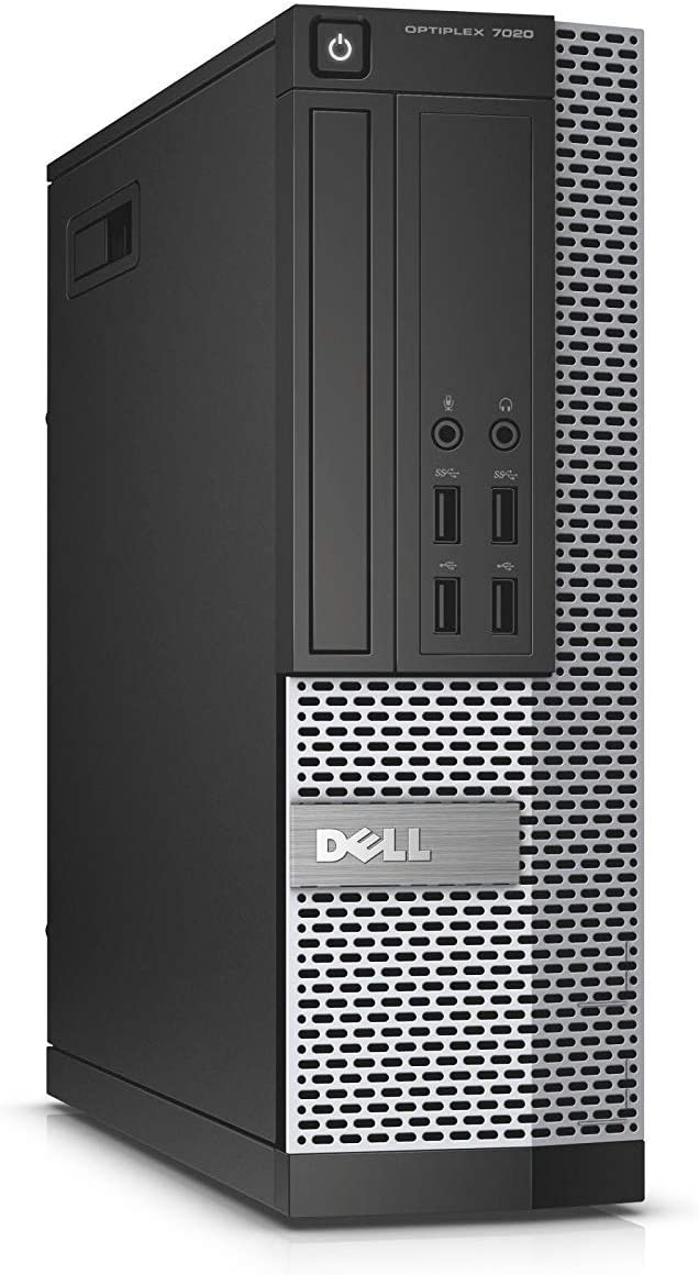 Dell Optiplex 7020 Small Form Desktop, Quad Core i7 4770 3.4Ghz, 16GB DDR3 RAM, 480GB SSD Hard Drive, DVD-RW, Windows 10 Pro (Renewed)