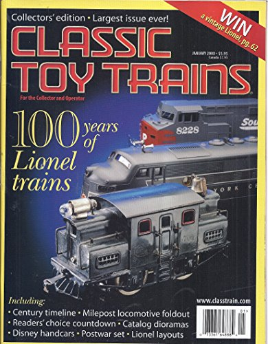 Classic Toy Trains Magazine (Collectors' Edition - January 2000 - 100 Years of Lionel Trains) (Toy Collectors Magazine)