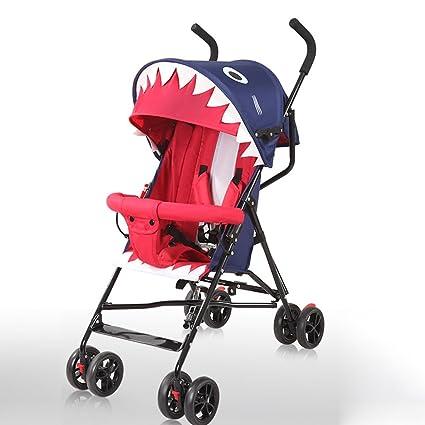 &Carrito de bebé Cochecito de bebé ligero plegable simple paraguas BB carro puede sentarse puede mentir