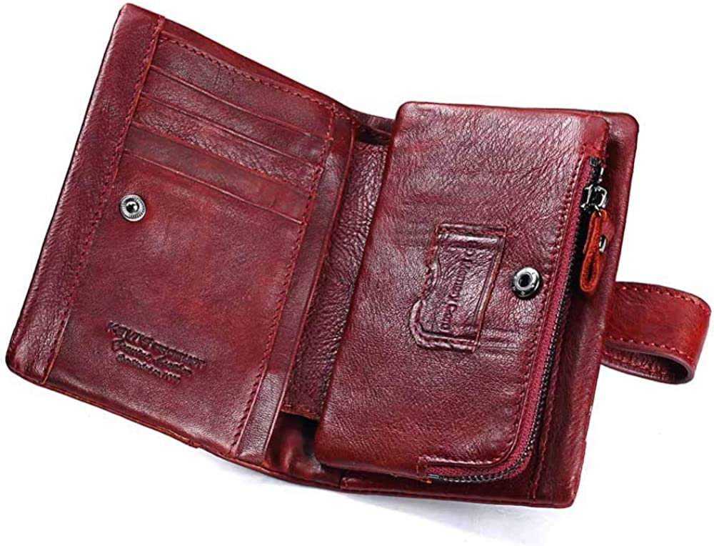 by VNUS93 Genuine Leather Rfid Free Engraving Quality Wallet Women Crazy Horse Wallets Coin Purse Short Female Money Bag Mini Walet Wallets