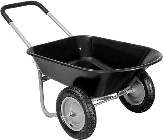 Giantex Heavy Duty 2 neumático carretilla jardín carro paisaje Wagon: Amazon.es: Jardín
