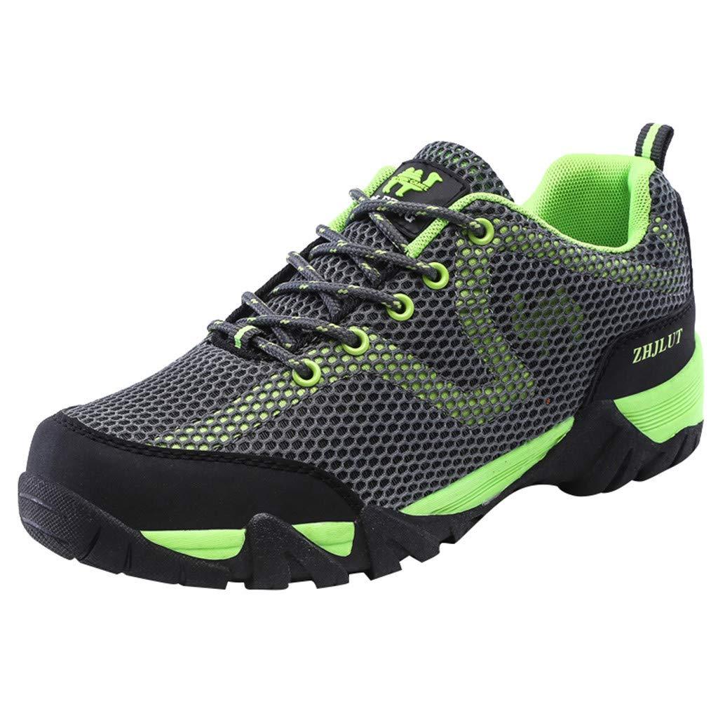 Sunyastor Men Women Hiking Shoes Breathable Non-Slip Outdoor Sneaker for Walking Trekking Camping Trail Running Shoes Gray by Sunyastor Men Shoes