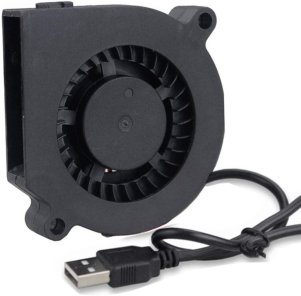 GDSTIME 5V USB Blower Fan 60mm, 60mm x 60mm x 15mm Brushless DC Cooling Blower Fan