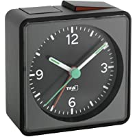 TFA Push Alarmlı Aydınlatmalı Elektronik Masa Saati Siyah