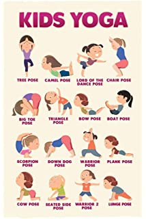 Amazon Com Sportaxis Kids Yoga Poster With Cute Illustrations Toddler And Kids Yoga Exercises Fitness Training For Young Active Kids Sturdy And Laminated Kids Yoga Poster 18 X27 Everything Else