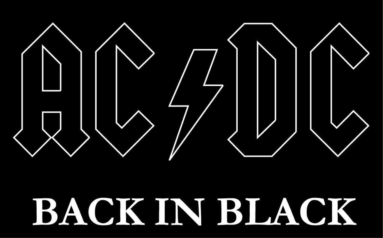 Ac Dc Back In Black Musik Hochwertigen Auto Autoaufkleber 12 X 10 Cm Küche Haushalt