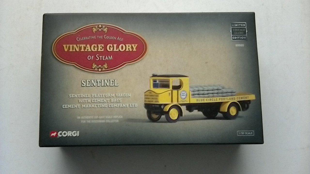Corgi Vintage Gloire de Vapeur  Sentinel. Sentinel Plateforme Plateforme Plateforme Wagon avec Ciment Sacs/ciment Marketing Company Ltd 80005 8927d3