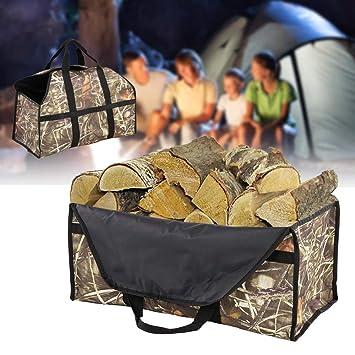 Bolsa para Leña Oxford Cloth para Chimeneas, Estufas de Madera, Leña, Camping Accesorios: Amazon.es: Bricolaje y herramientas