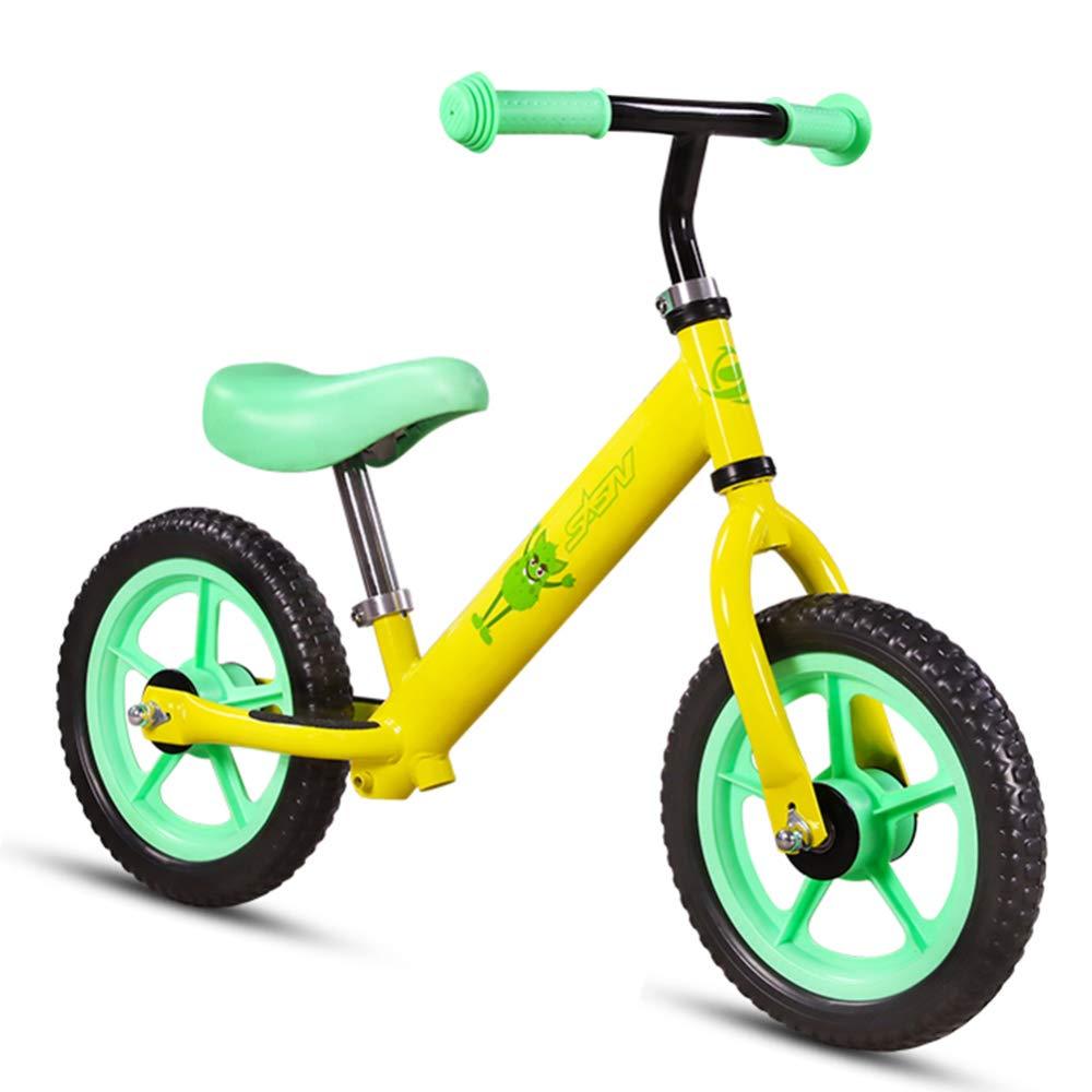 CHRISTMAD 12 Sport Balance Bike-Lightweight Rahmen Aus Carbonstahl Eva-Rad Kompletter Schutzanzug Alter 18 Monate Bis 5 Jahre Geschenk,Gelb