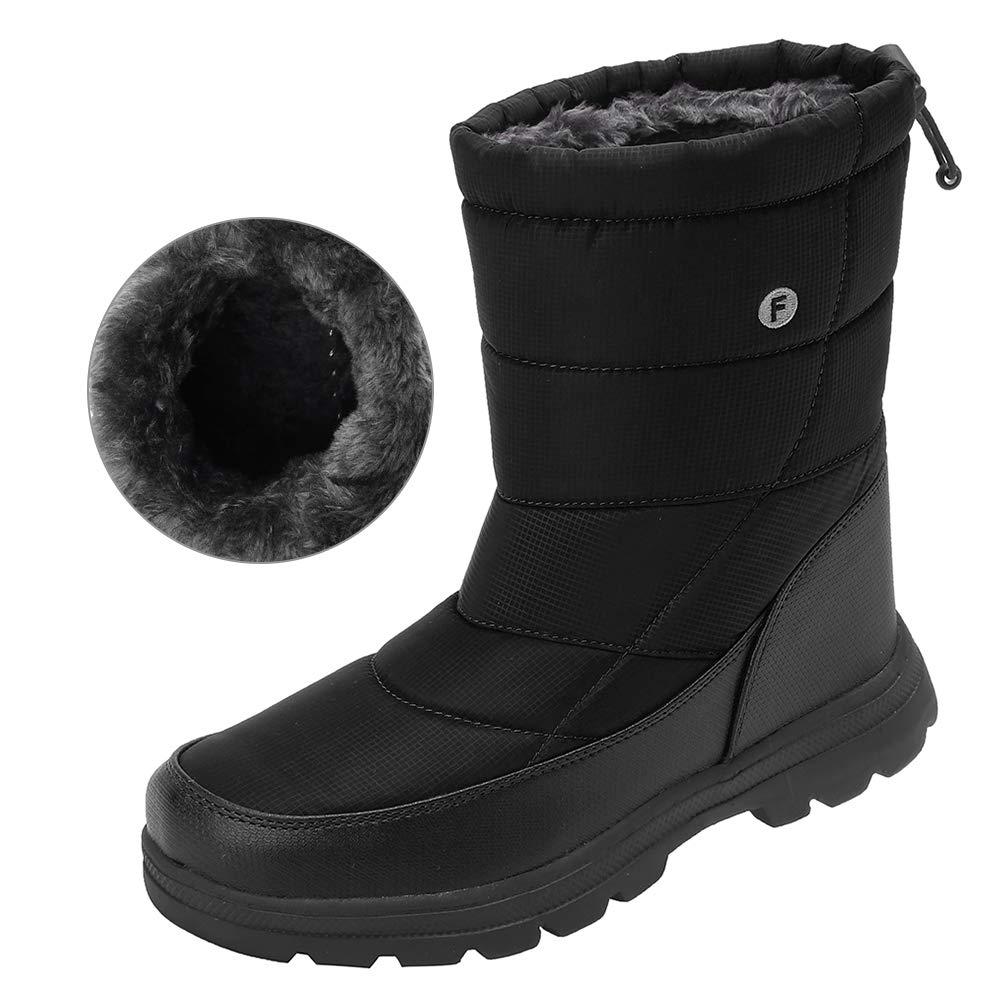 WALUCAN Men and Women's Waterproof Snow Boot Drawstring Cold Weather Boot U318WXZ030