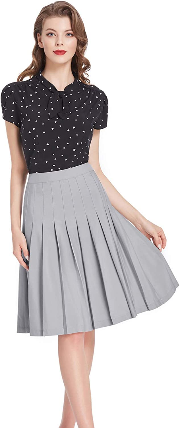 60% Off Coupon – Stretchy Aline Pleated Skater Skirt