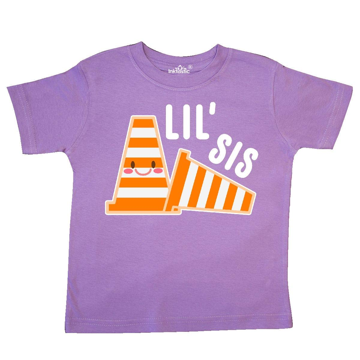 inktastic Lil Sis with Construction Cones Toddler T-Shirt