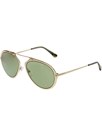 93f31823cc00a Image Unavailable. Image not available for. Color  Tom Ford FT0508 Dashel  Sunglasses 53 28N Shiny Rose Gold Green