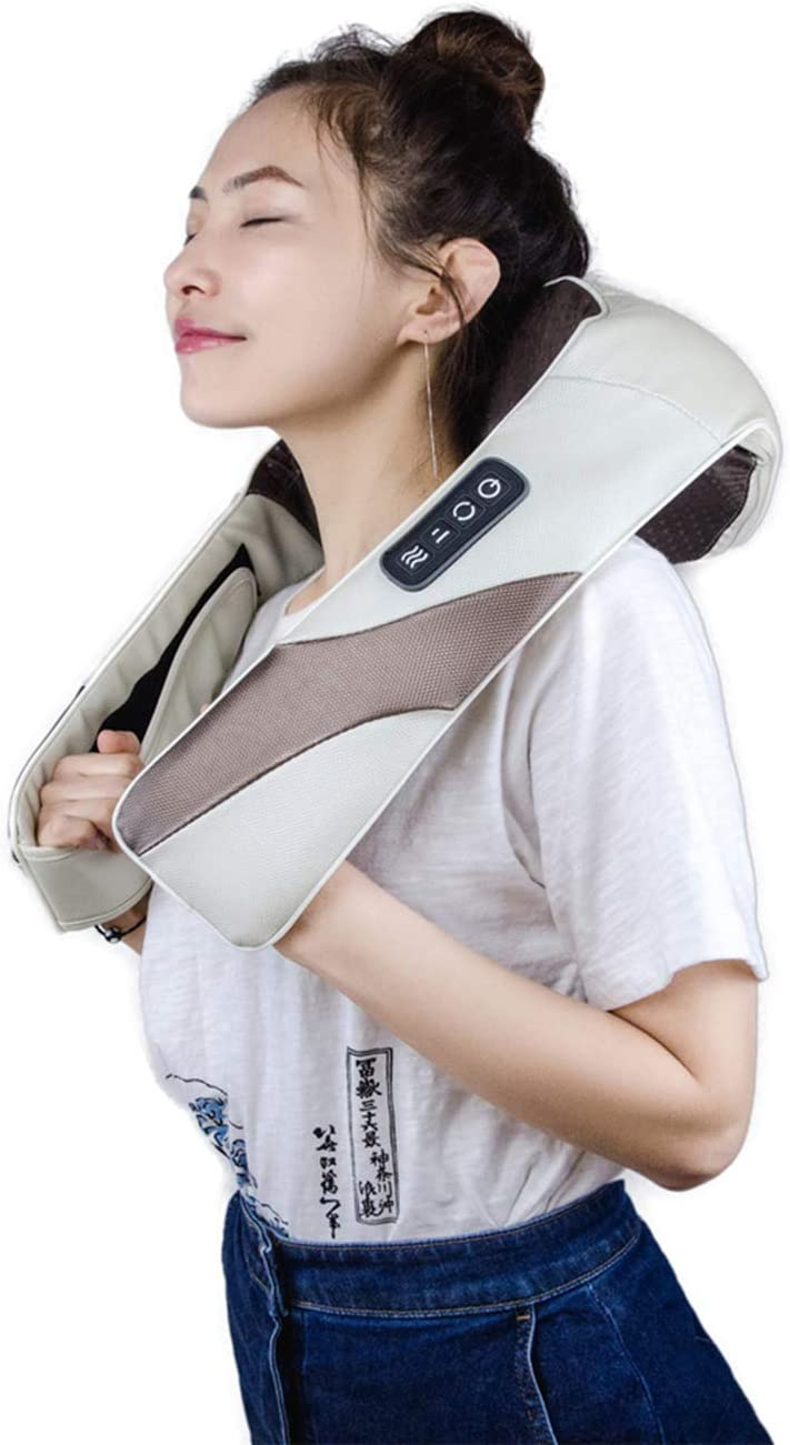 ARONT Shiatsu Neck and Back Shoulder Massager with Heat-Deep Tissue 3D Kneading Massage for Neck, Leg, Shoulder and Foot, Use at Car Office Home