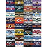 b725952c5fb 32 NFL Stickers - Complete Football Vintage Banner Set 49ers Bears Broncos  Chiefs Colts Cowboys Dolphins