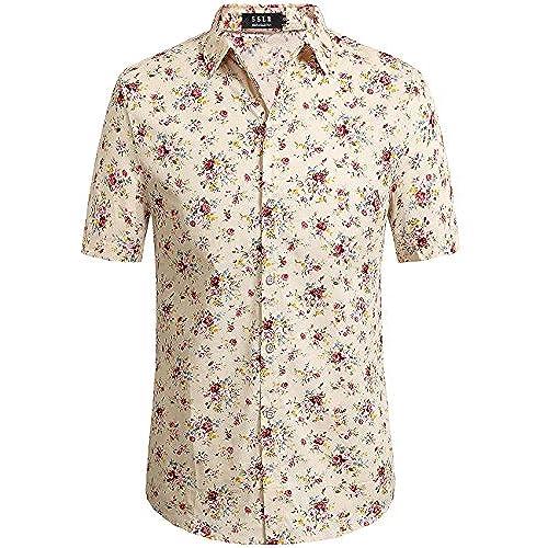 Men 39 s floral shirts for Mens short sleeve floral shirt