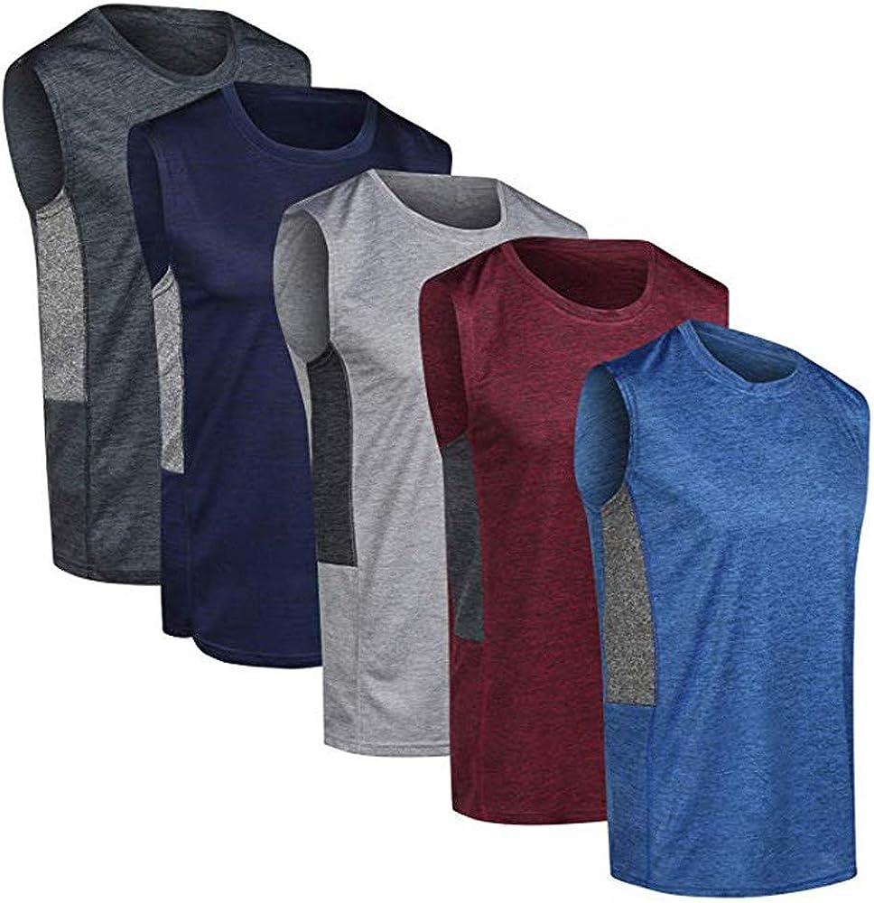 MXJEEIO -5 Pack Camiseta con Capucha de Tirantes Deportes para ...