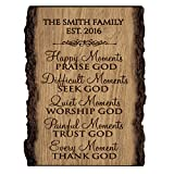 house name signs - Personalized Family Gift Custom Family Name Sign Engraved with Family Name And EST. Date House Warming Gift By LifeSong Milestones (Happy Moments)