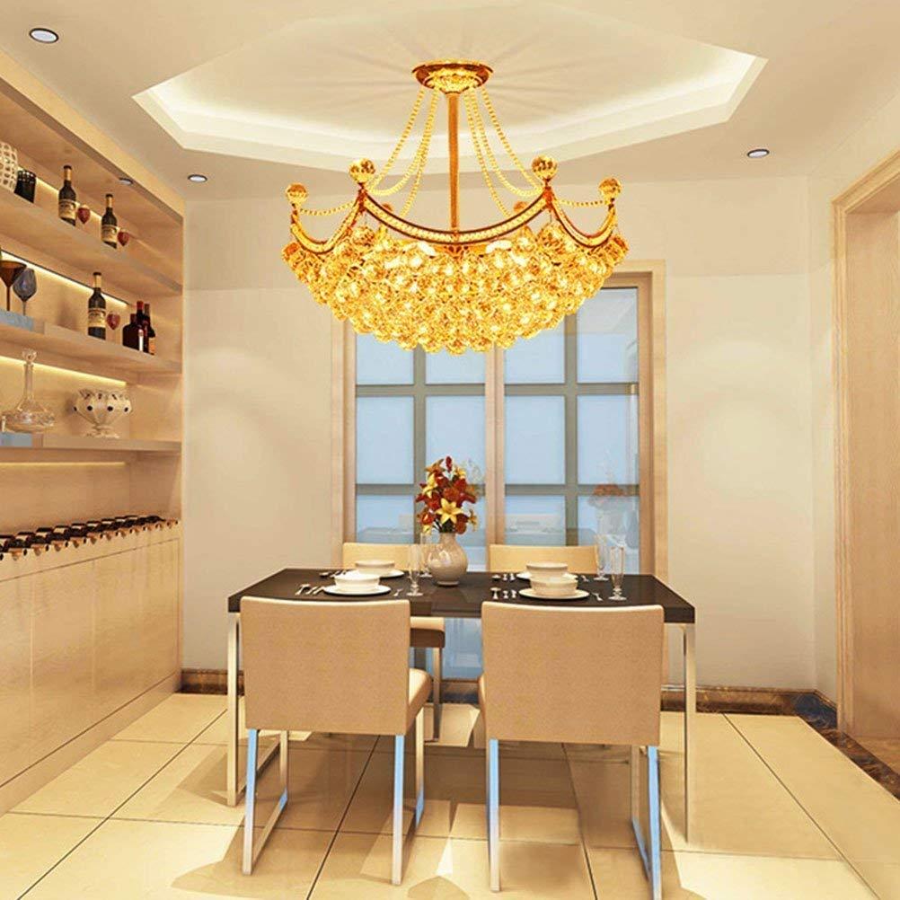 AWCP Araña Araña Lámpara de Oro Hexagonal Comedor Restaurante Piso de Cristal Dúplex Villa Moda Salón de la Escalera Iluminación Colgante de Lujo Lámpara de ...