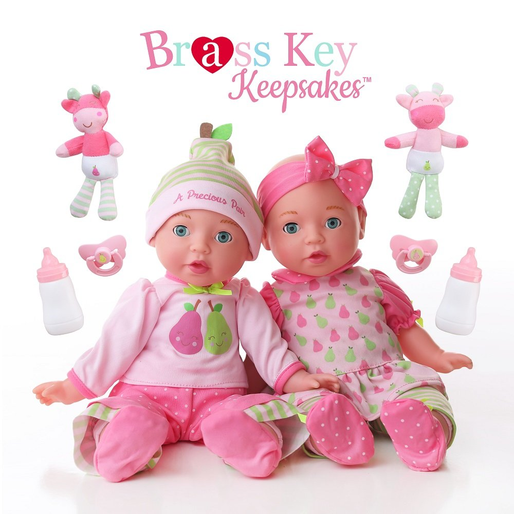 Celebrating Twins, A Precious Pair, Brass Key Keepsakes by Brass Key Keepsakes