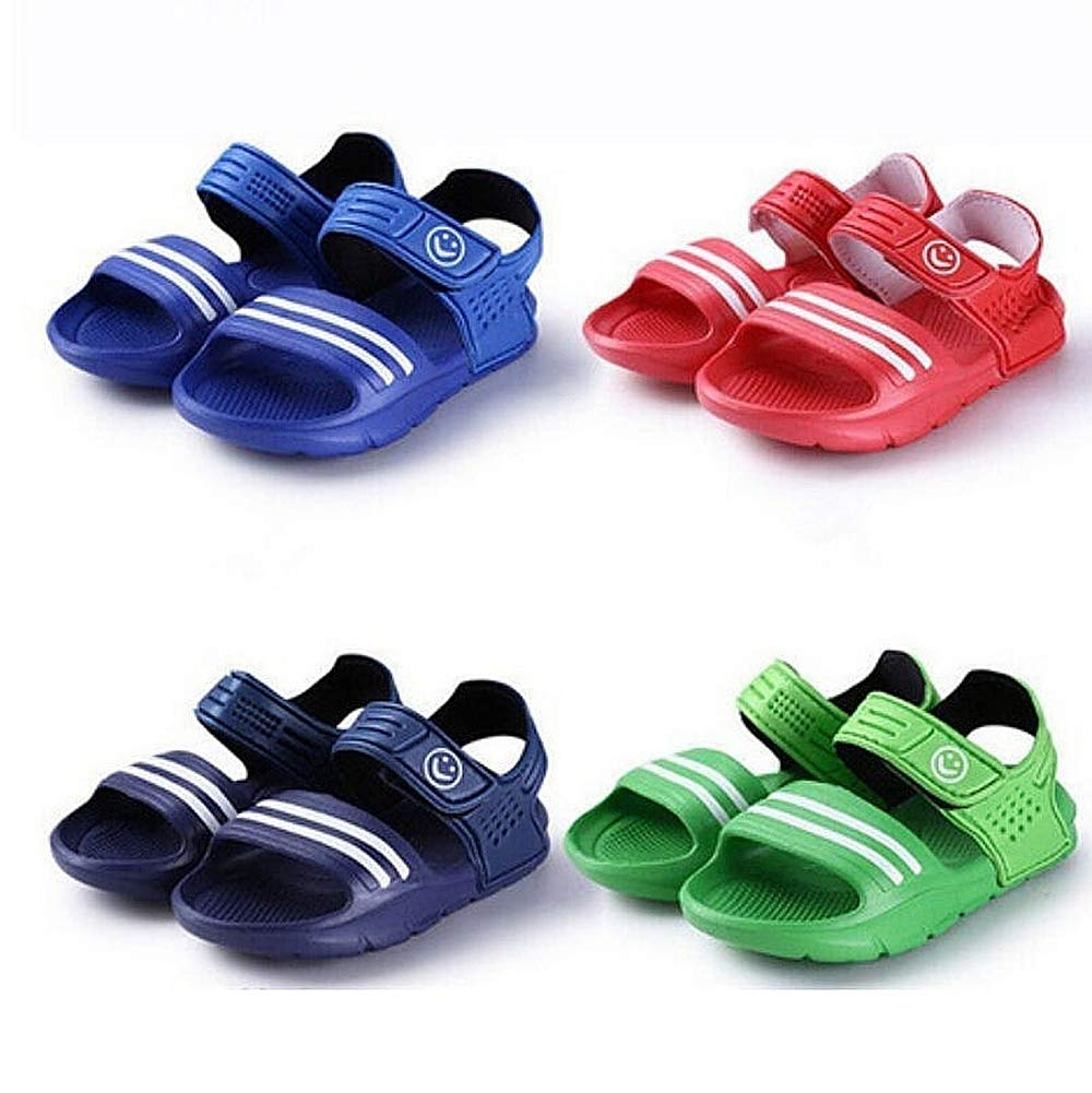 Quick Drying Indoor Bathroom Slippers for Family,Green,10US Aegilmc Kids PVC Beach Slides Slippers Sandals