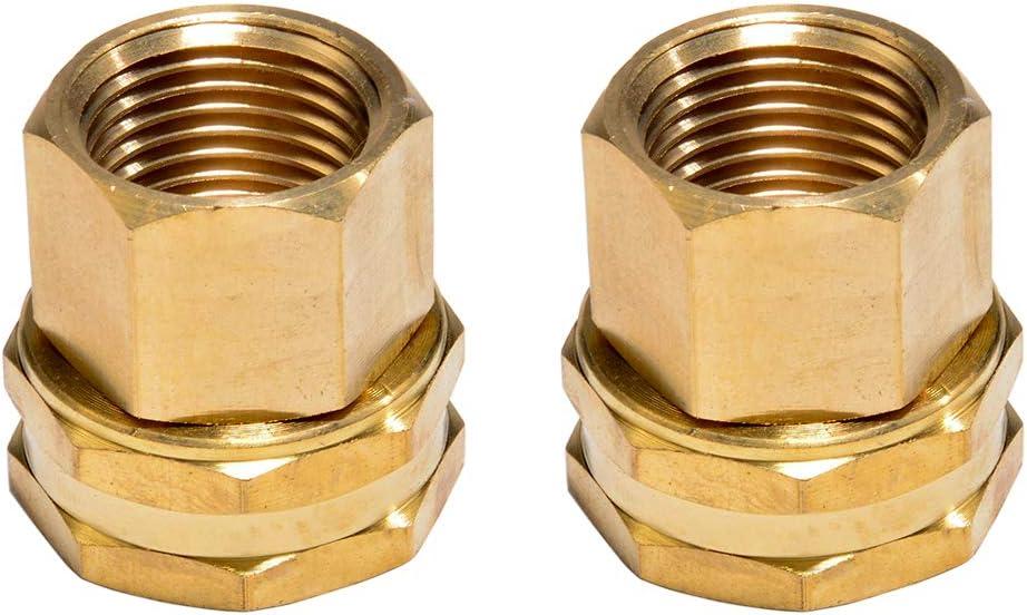 Sanpaint 2 Pack Brass Garden Hose Threaded 1/2