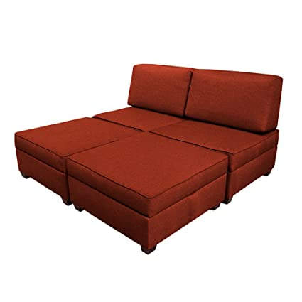 king sofa bed. Duobed Multifuntional King Sofa Sleeper With Storage - Brick Red King Sofa Bed G