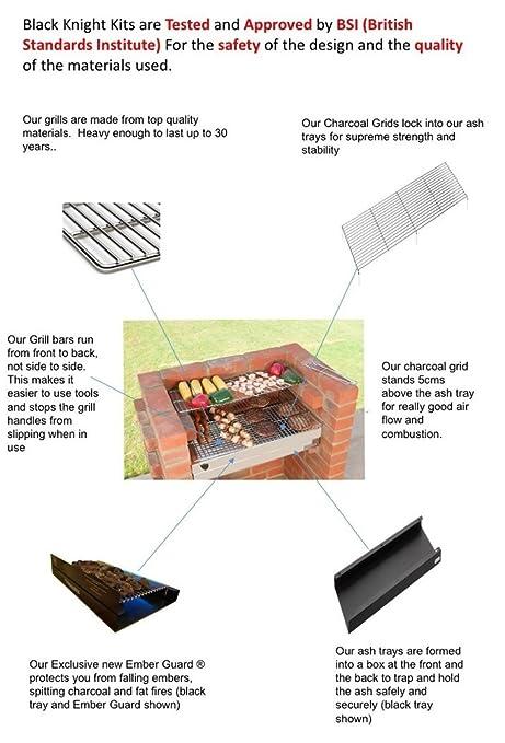 Barbacoa de ladrillos kit 100% (apto para guardar alimentos) acero inoxidable: Amazon.es: Jardín